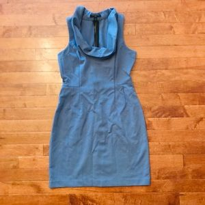 Banana Republic Gray Blue Work Dress